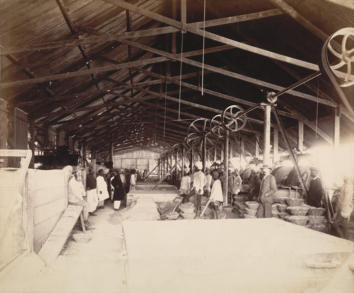 Mortar shed [Victoria Dock construction, Bombay].
